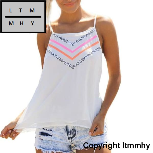 Summer Beach Wear Shirt 2017 Fashion Womens Printing Camis Sexy Sleeveless Tank Crop Tops Vest