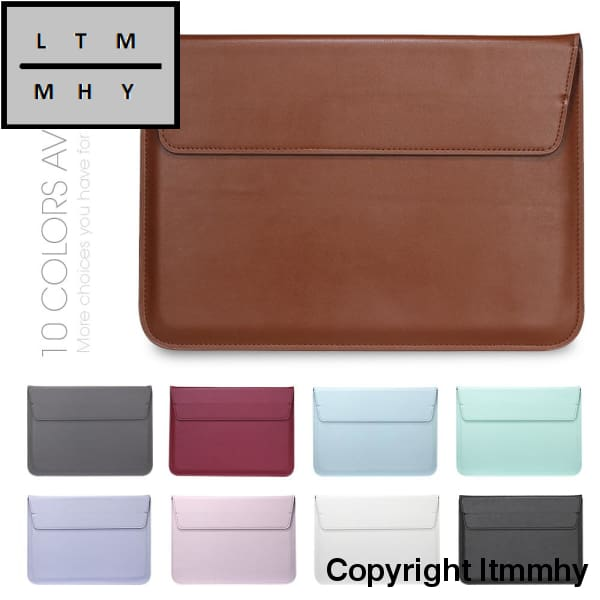 Voground New Leather Sleeve Protector Bag Case For Apple Macbook Air Pro Retina 11 12 13 15 Laptop
