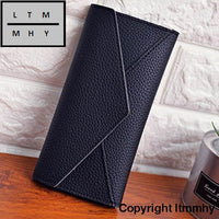 Women Daily Use Clutches Ladies Wallets And Purses Walet Monedero Mujer #4M Black