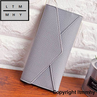 Women Daily Use Clutches Ladies Wallets And Purses Walet Monedero Mujer #4M Gray