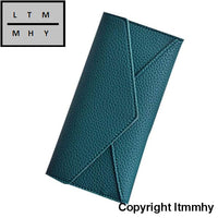 Women Daily Use Clutches Ladies Wallets And Purses Walet Monedero Mujer #4M Green