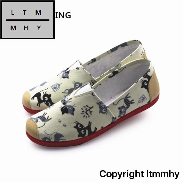 Women Fashion Mary Shoes Cool Lady Work Flat Female Floral Printed Pink Zapatos De Mujer