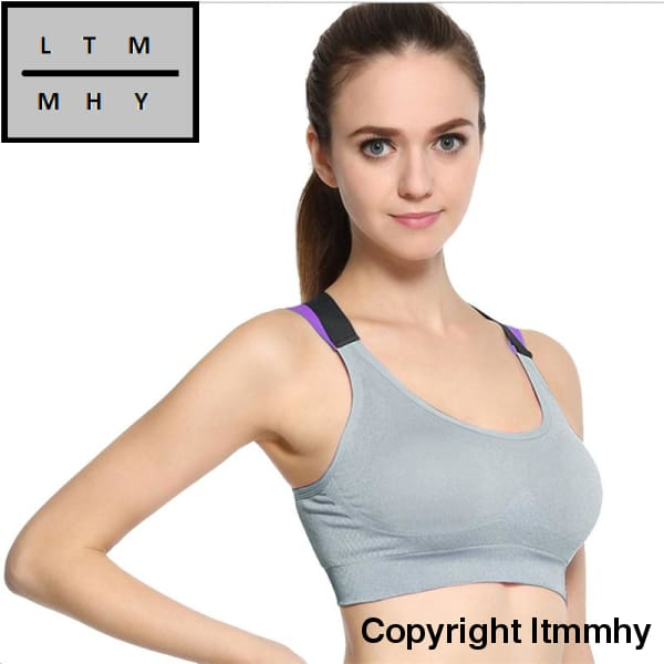 b2e695ddb06fe ... Yoga Fitness Push Up Sports Bra Womens Gym Running Active Wear Padded  Tank Top Athletic Vest ...