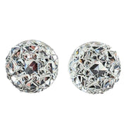 Crocodile Button Earrings (Studs) - faux diamond