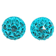 Crocodile Button Earrings (Studs) - turquoise