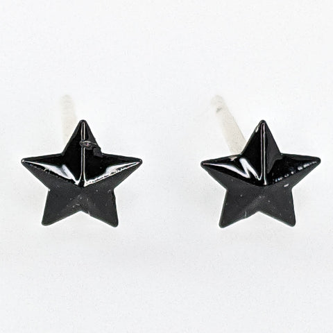 Tiny Star Earrings (Studs) - black