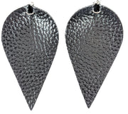 Inverted Teardrop Earrings (Dangles) - black