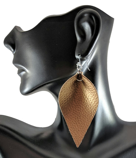 Inverted Teardrop Earrings (Dangles) - gold