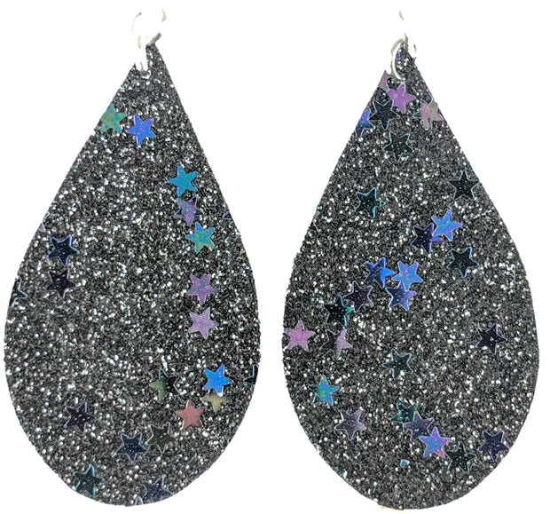 Glitter Star Mini Teardrops
