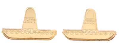 Sombrero Earrings (Studs) - gold