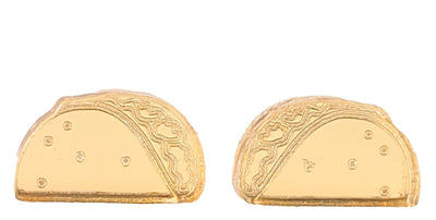 Taco Mirrored Earrings (Studs) - gold