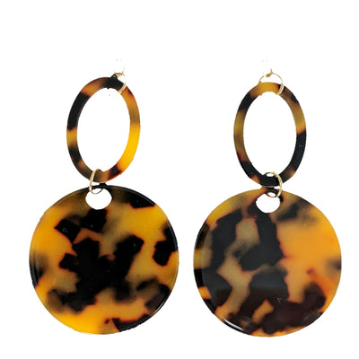 Tortoise Celluloid Earrings (Dangles)