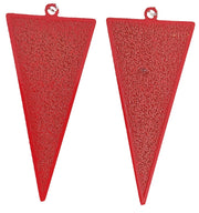 Inverted Triangle Earrings (Dangles) - red