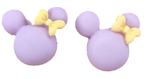 Two-Tone Girl Mouse Earrings