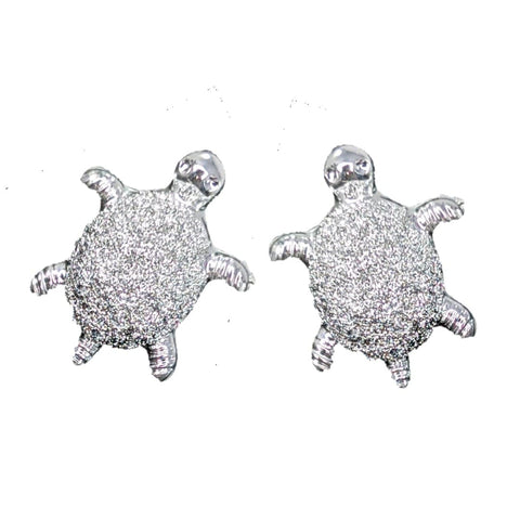 Tiny Turtle Earrings (Studs) - silver