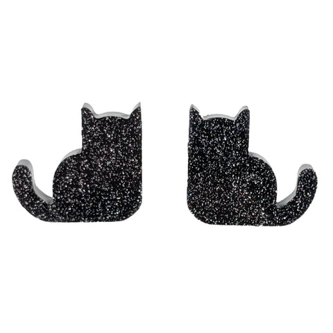 Sitting Cat Earrings (Studs)