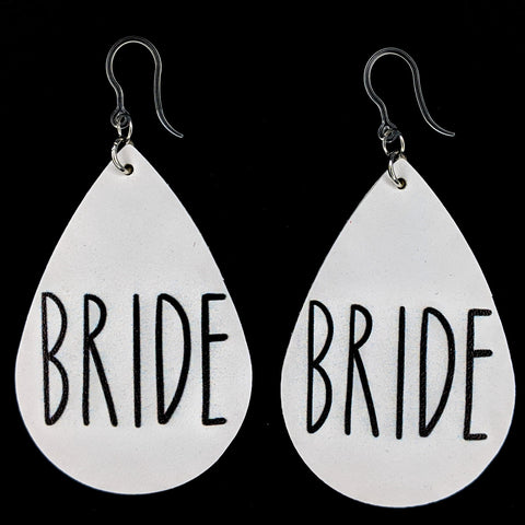 Bride Earrings (Teardrop Dangles)