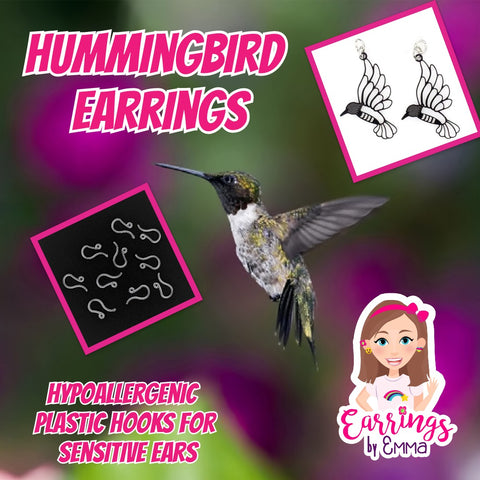 Hummingbird Earrings (Dangles)