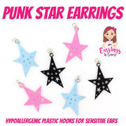 Punk Star Earrings (Dangles)