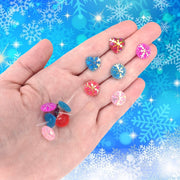 Snowflake Button Earrings