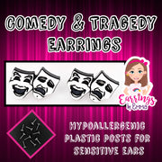 Comedy and Tragedy Earrings (Studs)