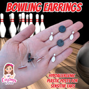 Bowling Earrings (Studs)