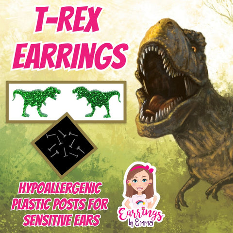 T-Rex Earrings (Studs)