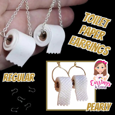 Toilet Paper Earrings (Dangles) - all styles