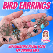 Blue Bird Earrings (Studs)