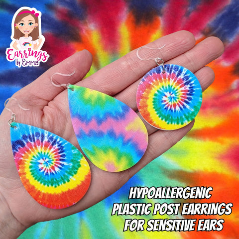 Tie Dye Earrings (Teardrop Dangles)