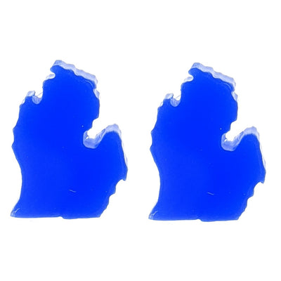 Michigan Earrings (Studs) - blue