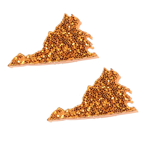 Virginia Earrings (Studs) - orange
