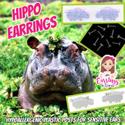 Hippo Earrings (Studs)