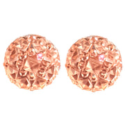 Crocodile Button Earrings (Studs) - pink
