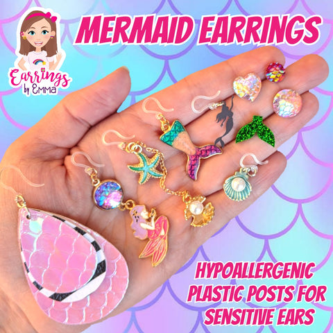 Oyster Earrings (Dangles) - size comparison hand
