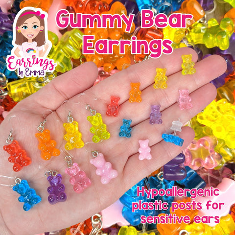 Gummy Bear Drop Earrings (Dangles)