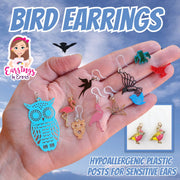 Petite Owl Earrings (Dangles) - bird earrings