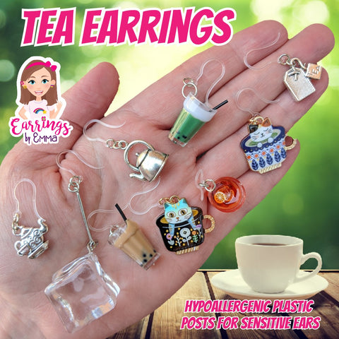 Exaggerated Ice Cube Earrings (Dangles)