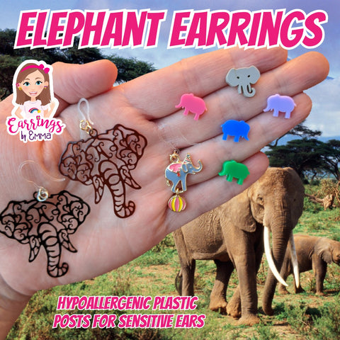 Elephant Earrings (Studs)