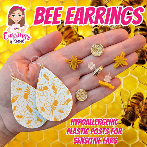 Bee Earrings (Studs)
