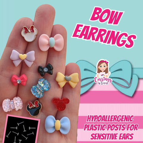 Confetti Bow Earrings (Studs)
