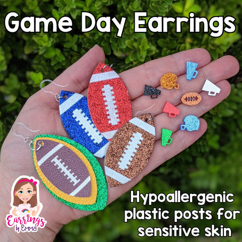 Football Earrings (Studs)
