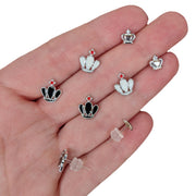 Monochrome Crown Earrings (Studs) - all colors
