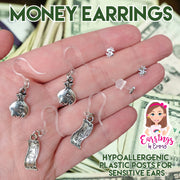 Dollar Sign Earrings (Studs)