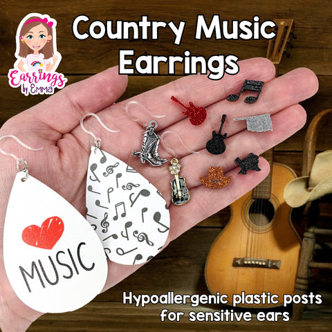 Silver Cowboy Boot Earrings (Dangles)