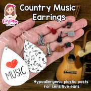 Jeweled Guitar Earrings (Dangles)