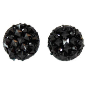 Crocodile Button 12mm Earrings (Studs) - black