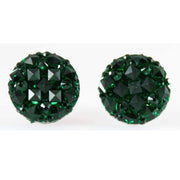 Crocodile Button 12mm Earrings (Studs) - green
