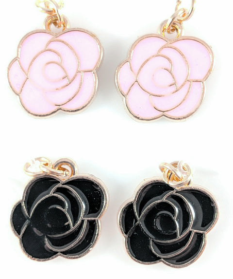 Rose Earrings (Dangles) - all colors