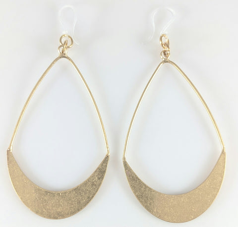 Hollow Water Drop Earrings